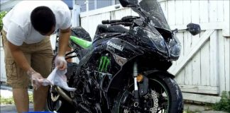 steps to clean a motorcycle