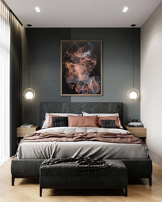masculin bedroom for women