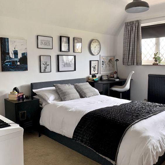 monochrome-man bedroom